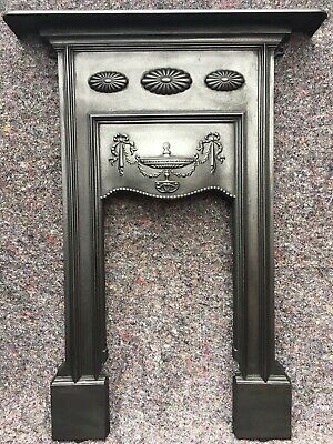 Antique Edwardian / Victorian Cast Iron Fireplace / Fire Surround Uk Delivery