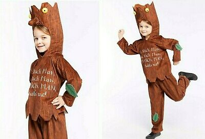 Childs Official Stick Man Fancy Dress World Book Day Costume 7-8 Yrs RRP £25.76