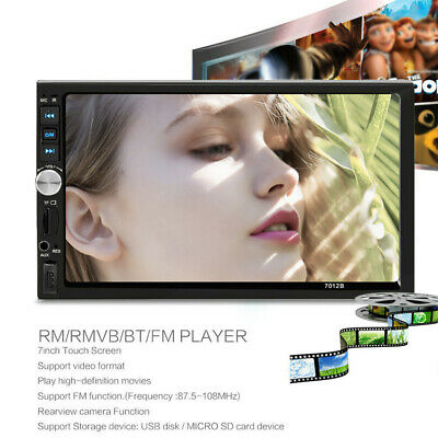 """7"""" inch 2Din Touch Screen Car MP5 Player Bluetooth Stereo FM Radio USB/TF AUX In"""