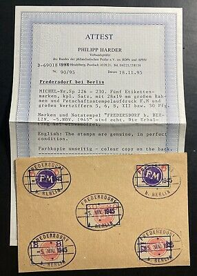 1945 Frederstorf Germany Local issue Stamps WW2 Postcard Cover