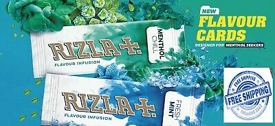 Rizla Flavour Infusions Fresh Mint Cards 5 PACKS Menthol Smoking NEW IN 2020
