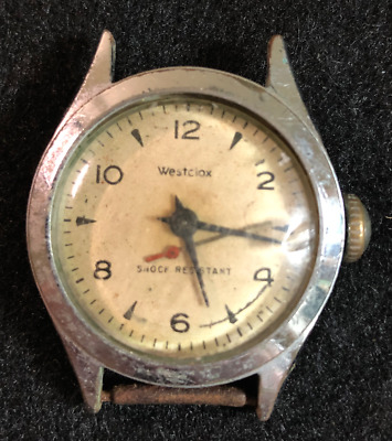 Vintage Westclox Men's Watch Parts/Repair Silver