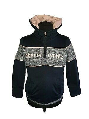 Girls ABERCROMBIE & FITCH Sport Half Zip Hoodie Track Top Age 3-4 Years