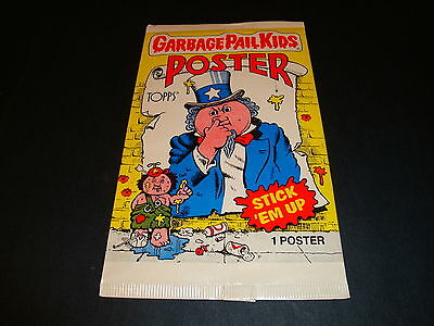 Sealed 1986 Topps Garbage Pail Kids Poster Pack Fresh From Box GPK