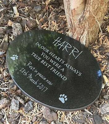 Pet Memorial Granite Plaque Oval personalised engraved