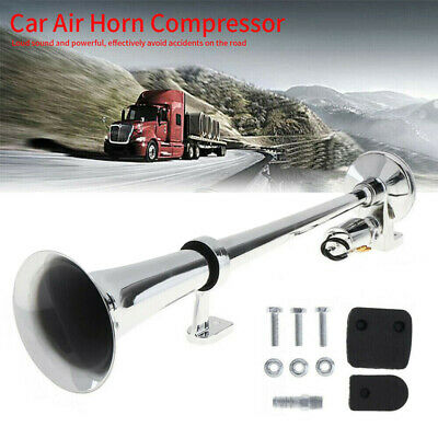 150DB 12V/24V Single Trumpet Air Horn Compressor Super Loud Car Boat Train Lorry