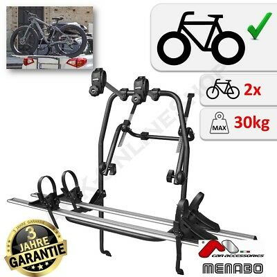 UKB4C Car 3 Bike Carrier Rear Tailgate Boot Cycle Rack fits A6 2004-2017