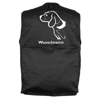 MIL-TEC Hundesport Outdoor Weste Beagle 4 inkl. Wunschname
