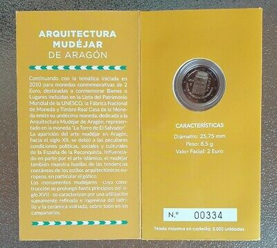 "2€ Spain 2020 ""Arquitectura Mudejar de Aragon"" Proof"