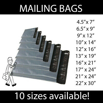 Strong Grey Mailing Bags Postal Mail Self Seal Bags Various sizes & Quantities
