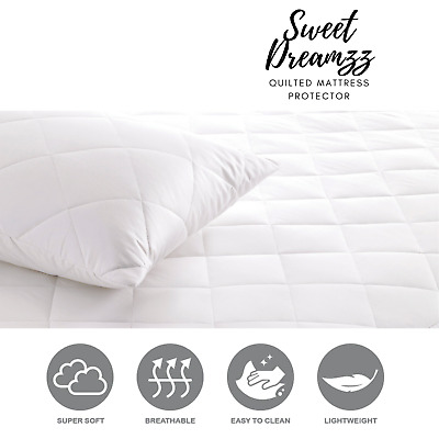 Luxury Quilted Mattress Protector Extra Deep Fitted Bed Sheet Cover 16 All Sizes