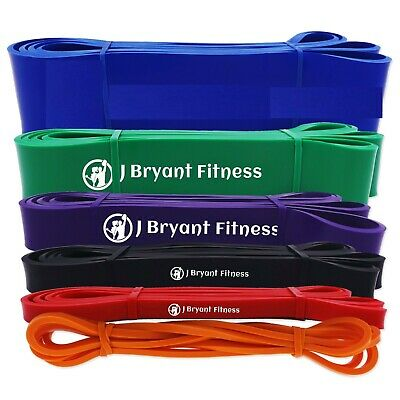 Fitness Power Band Resistance Rubber Pull Up Strengthen Gym Equipment 208cm