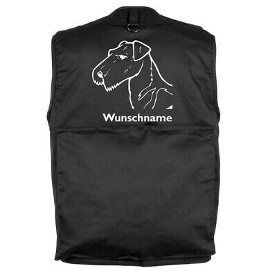 MIL-TEC Hundesport Outdoor Weste Airedale Terrier inkl. Wunschname