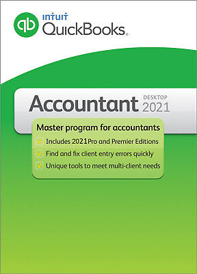 1 user QuickBooks Accountant 2021 for PC - check our 3500+ POSITIVE REVIEWS
