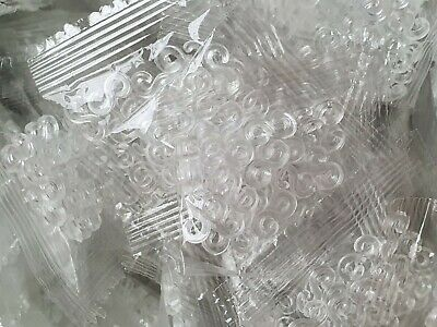 150 Plastic Clear S CLIPS Clasps For Loom Bands Bracelet Jewellery 6Packs 25Pcs