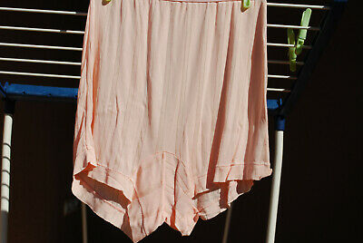 Vintage peach rayon panties briefs bloomers size6