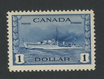 Canada MNH WWII stamp #262-$1.00 Destroyer MNH VF Guide Value = $120.00