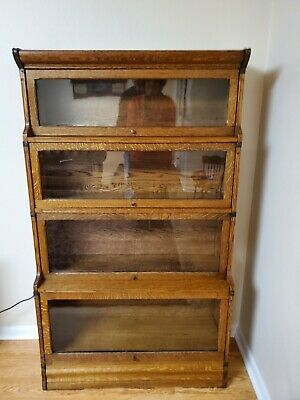 "Antique Quartersawn Oak Bookcase ""RARE"""