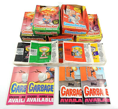 1986 Topps Garbage Pail Kids Series 3 4 5 6 Display Box Lot w/ Wrappers Posters