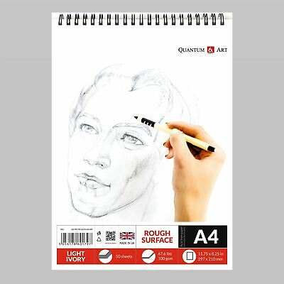 A4 Sketch Pad Drawing Painting Artist Paper on Spiral Book -50 sheets 100 pages