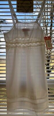 Vtg Puzzles Girls Antron Nylon III Full Dress Slip Size 12 Made In USA NOS