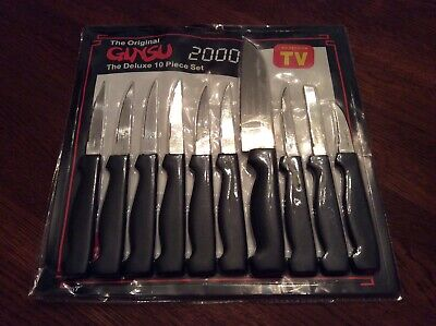 The Original Ginsu 2000 Deluxe 10 Piece Knife Set - Brand New.