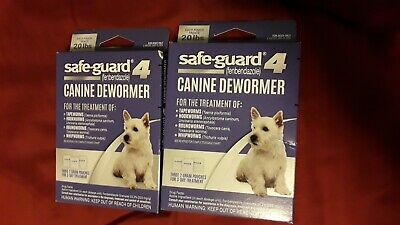 Safe-Guard 4 Canine Dewormer Three 2 Gram Dogs 6 Weeks And Older Exp 12/2019 (2)