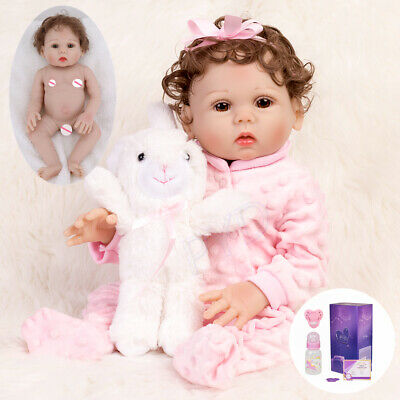 "Waterproof 18"" Reborn Baby Dolls Full Body Soft Silicone Vinyl Newborn Girl Doll"