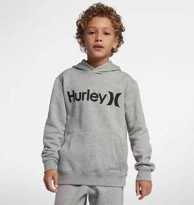 Hurley One And Only Surf Check Hoodie Boys in Grey Heather