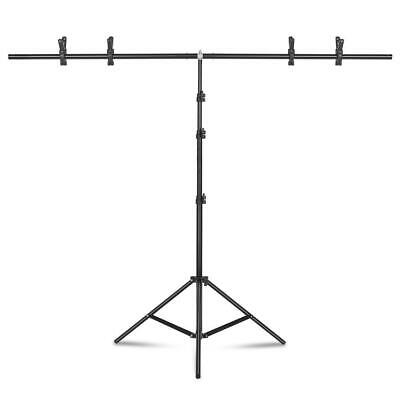 6.5Ft Photography Adjustable Backdrop Support Stand Background Kit with Crossbar