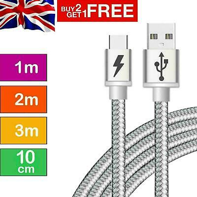 Strong Braided USB Type-C Cable Fast Charging High Durability Charger Data Lead
