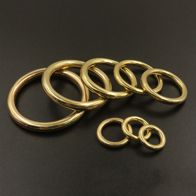 Leather Craft Solid Pure Brass Seamless Round Ring Luggage Fitting Tool DIY