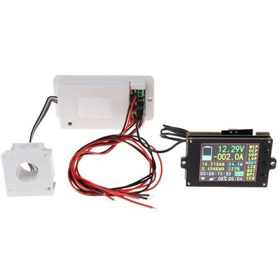 DC500V 500A 100A 200A Wireless Voltmeter Ammeter Coulometer Battery Power Meter