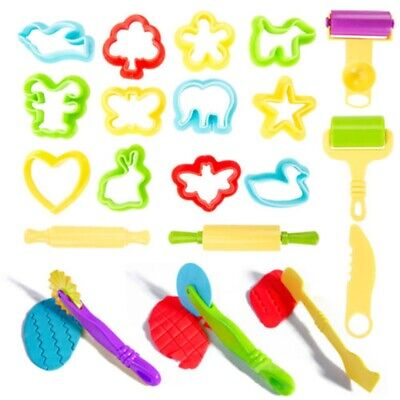 20Pcs Children Kids Smart Dough Tools Kit Models and Molds Toy Play Doh Toys NEW