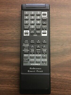 Gulbransen Concert Grand Remote Control Vintage Digital Replacement