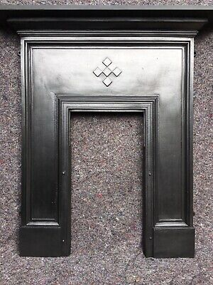 Large Edwardian / Victorian Cast Iron Fireplace / Fire Surround Uk Delivery