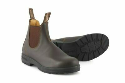 Blundstone 550 Mens Walnut Brown Leather Dress Chelsea Ankle Boots AU 6.5