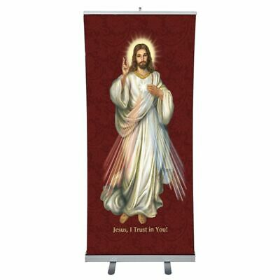 Sacred Image Series Retractable Banner - Divine Mercy