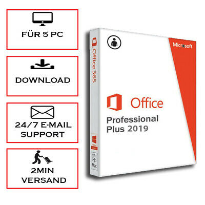 * Office 2010/2013/2016/2019 (Pro Plus) 1-5 PC - sofort per Email *