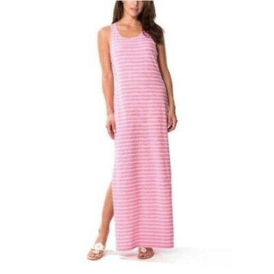 Sail to Sable Pink Striped Maxi Tank Dress Sleeveless Size L