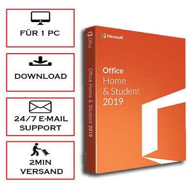 Office 2016/2019 Home & Student/Professional Plus 1/5 PC - Versand per Email