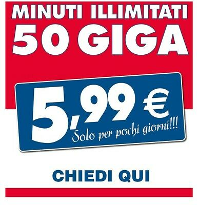 Incredibile Tim_A Soli 5,99 Euro_50 Giga, Minuti Illimitati_Solo Iliad, Virtuali