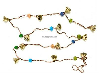 """""""Brass Claw Bells"""" 1.5cm & 'Beads' String Hippie 12 Small Claw Bells"""