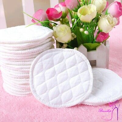 12Pcs Reusable Nursing Breast Pads Feeding Breast Pads Washable Soft Absorbent