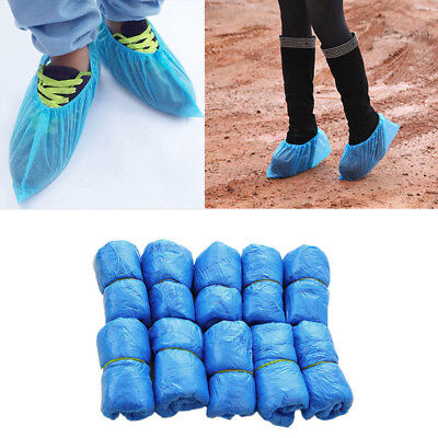 KM_ FT- 100Pcs Disposable Shoe Covers Boots Cover for Workplace Indoor Carpet La