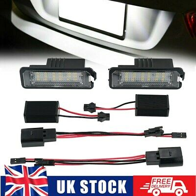 2x LED Number Plate Light Fit VW Scirocco CC for GOLF MK4 MK5 MK6 MK7 for Passat