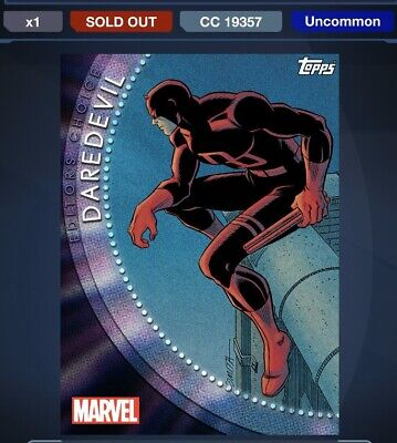 Topps Marvel Collect WAVE 3 EDITOR'S CHOICE 5-Card Digital Set With Award