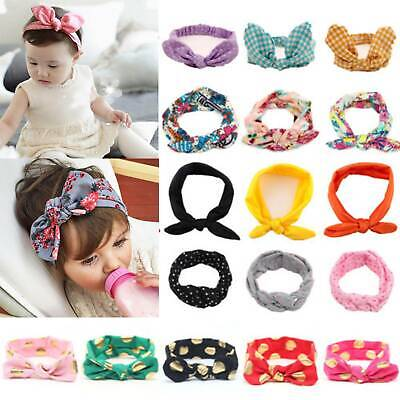 Baby Girls Bunny Bows Kid Turban Knot Rabbit Headband Bow Hair bands Head Wrap