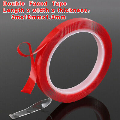 1pcs Car Auto Transparent Sticker Double Sided Tape Adhesive Seamless 3 Meters