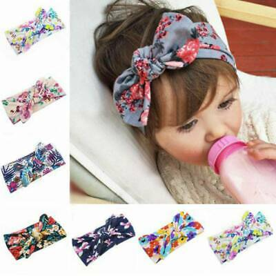 Baby Girls Bunny Bows Kids Turban Knot Rabbit Headband Bow Hair band Head wrap